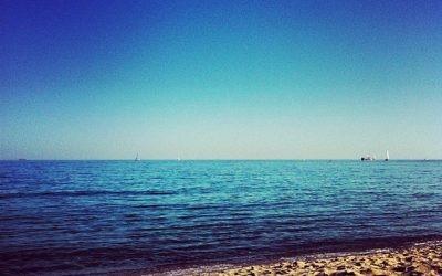 Aunque no lo creas, así era la playa Mar Bella de Poblenou