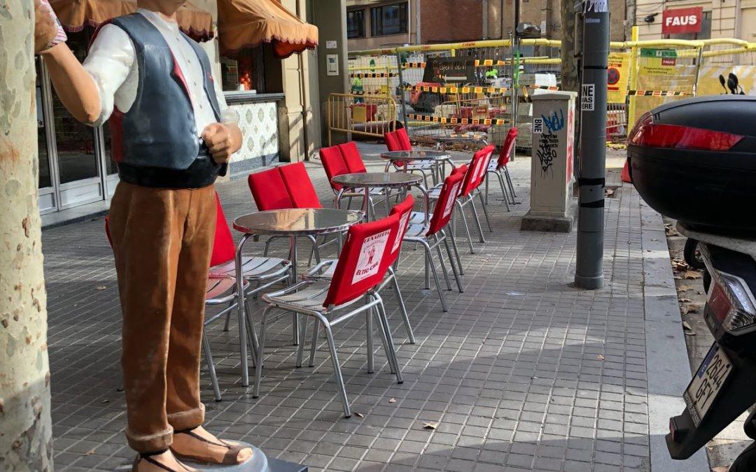La horchatería centenaria de Poblenou recupera algunas mesas